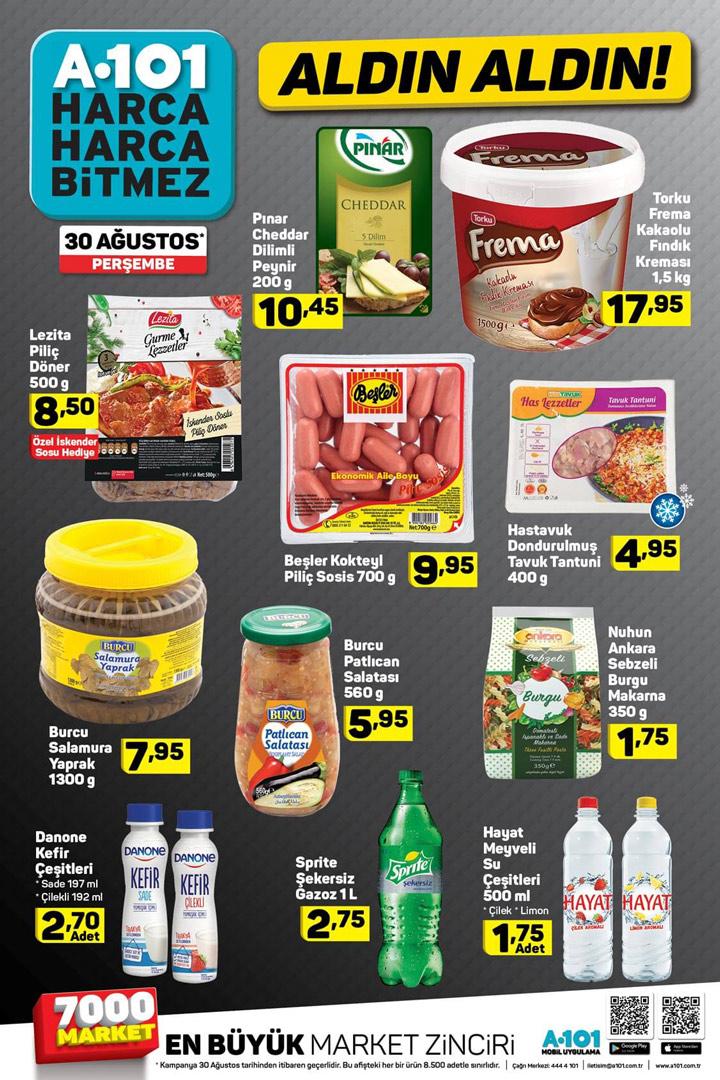 A101 30 Ağustos Gıda İndirimleri Aktüel Ürün Sayfası