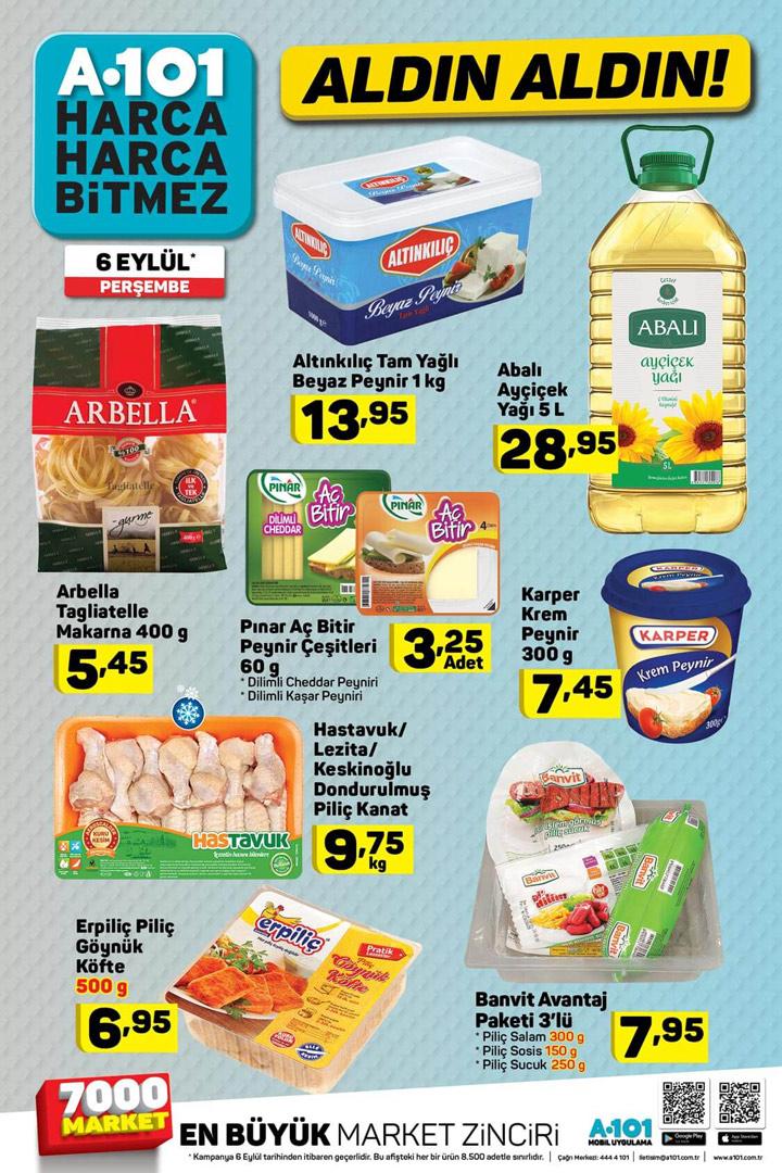 A101 6 Eylül Gıda Ürünleri Aktüel Sayfsı