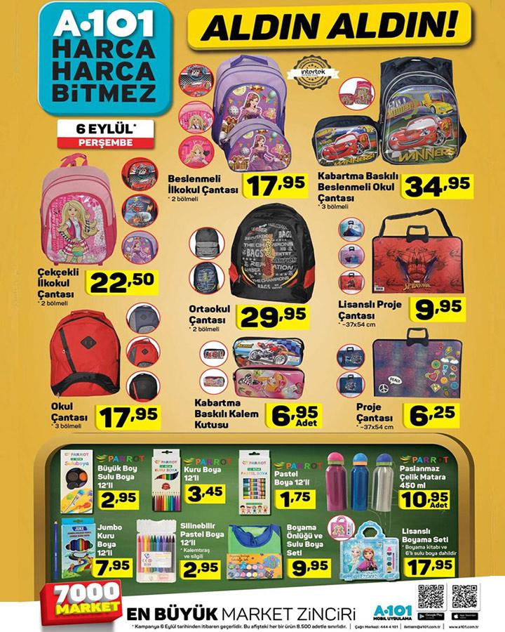 A101 6 Eylül Okul Malzemeleri Aktüel Ürün Kataloğu