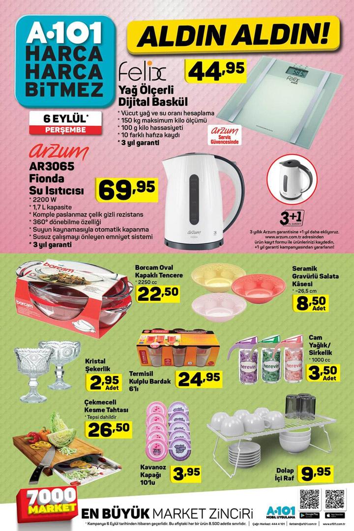 A101 Aldın Aldın 6 Eylül Aktüel Ürün Kataloğu