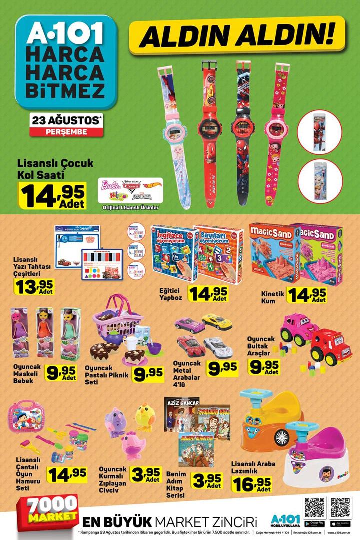 A101 Perşembe 23 Ağustos Aldın Aldın Çocuk Ürünleri