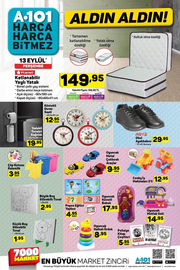 A101 13 Eylül 2018 indirimli ürünler listesi