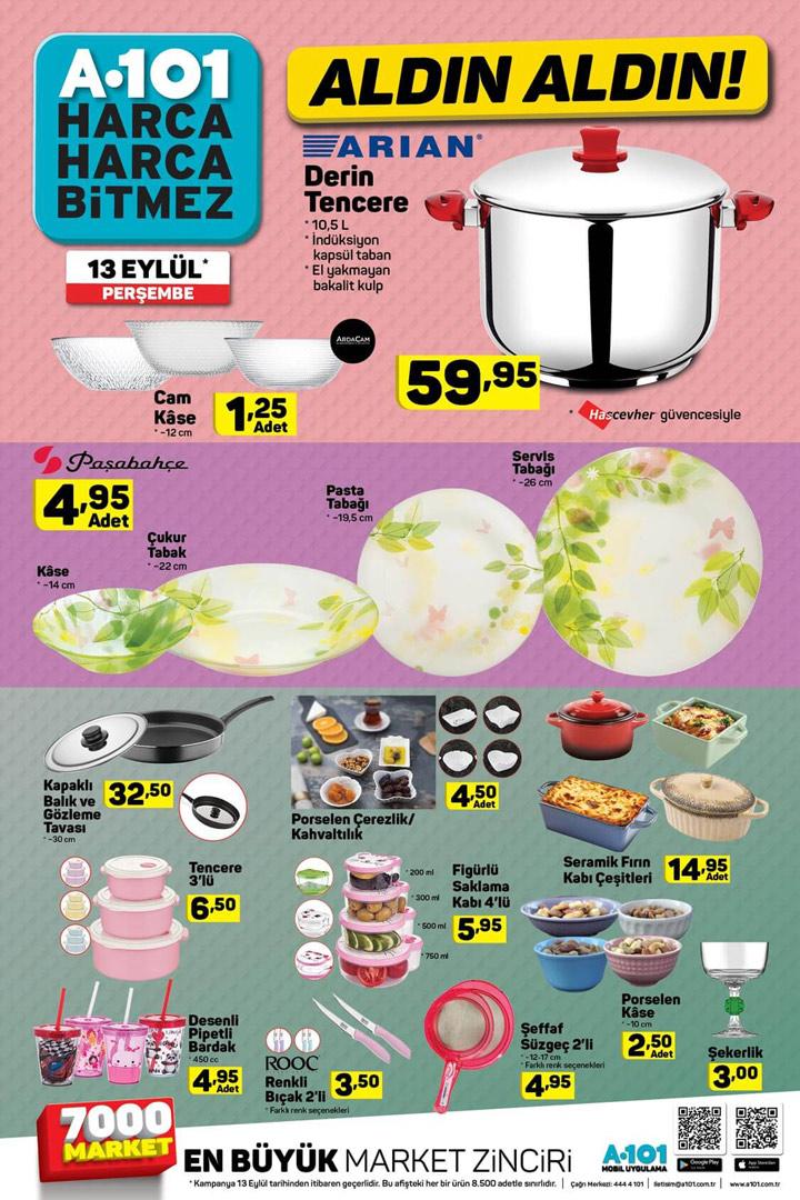 A101 13 Eylül Mutfak Ürünleri Aktüel Ürün Kataloğu