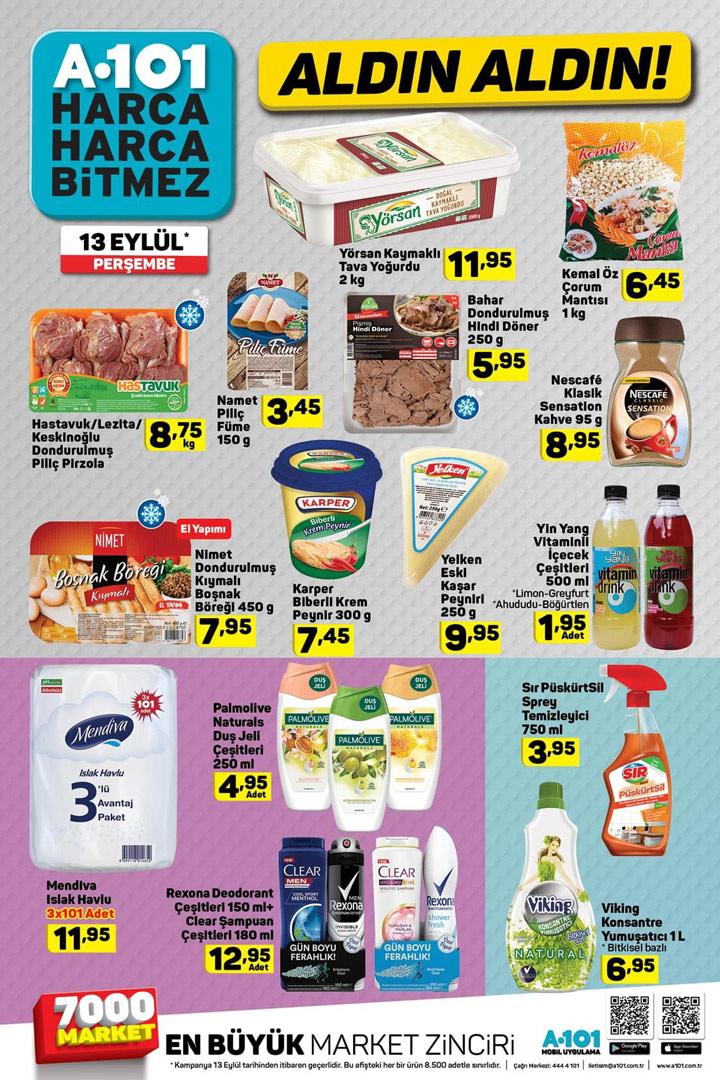 A101 13 Eylül Perşembe Aktüel Ürün Kataloğu Sayfası