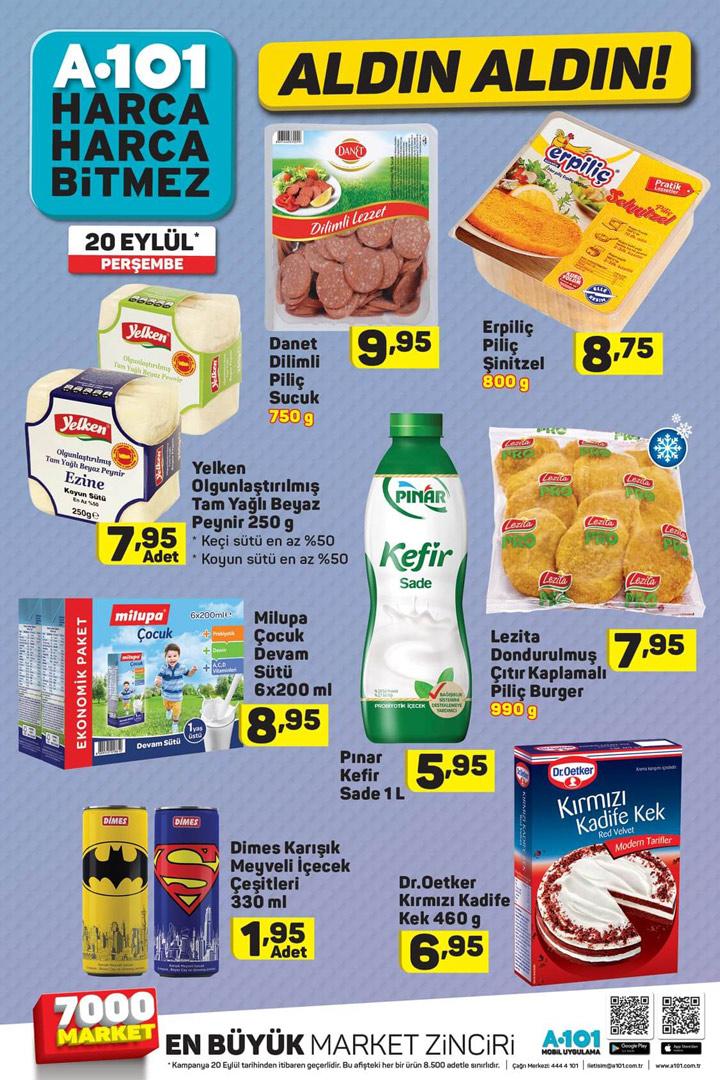 A101 20 Eylül Perşembe Gıda Aktüel Ürün Sayfası