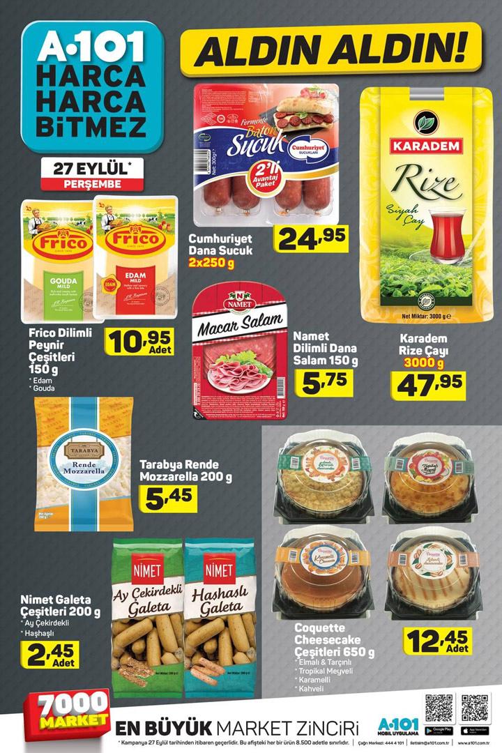 A101 27 Eylül Aktüel Gıda Ürünleri Kampanyaları
