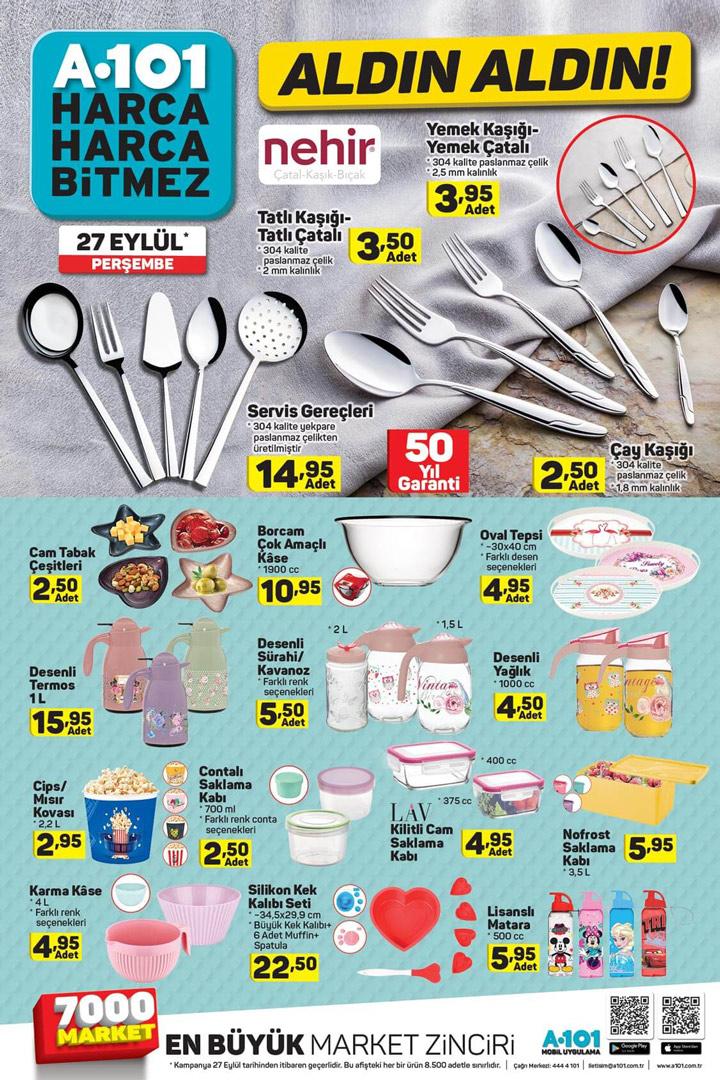 A101 27 Eylül Bu hafta Aktüel Ürün Kampanyaları