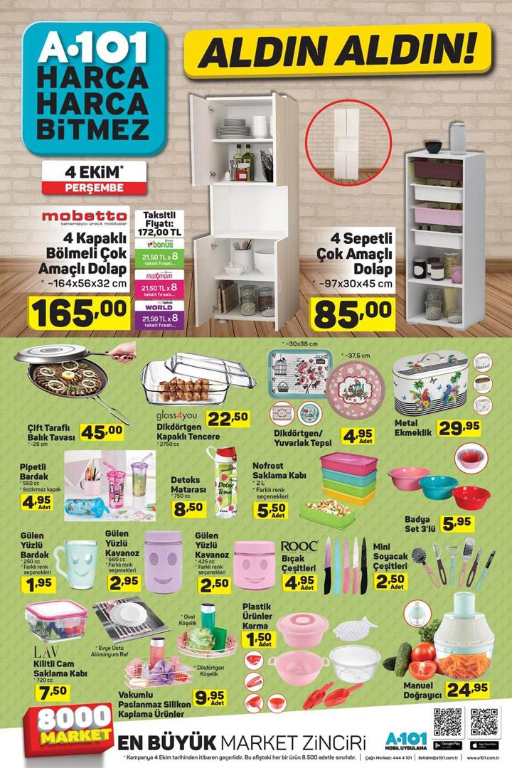 A101 4 Ekim Mutfak Ürünleri Aktüel Ürün Fırsatları