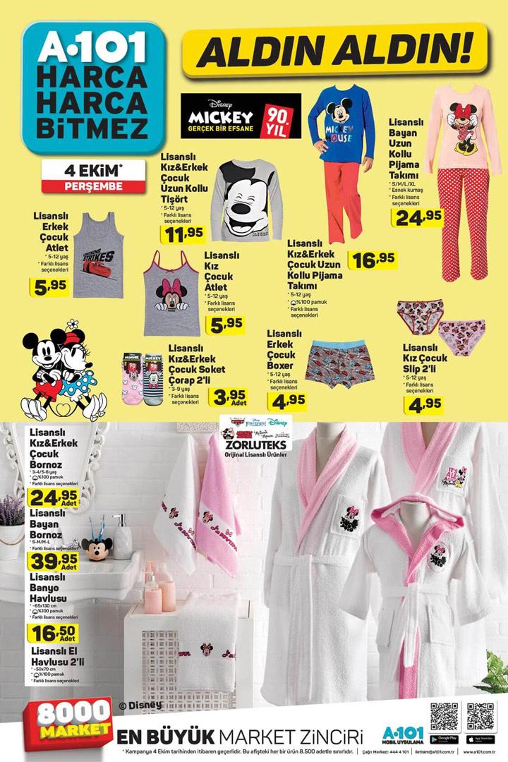 A101 4 Ekim Perşembe Giyim Aktuel Ürünleri
