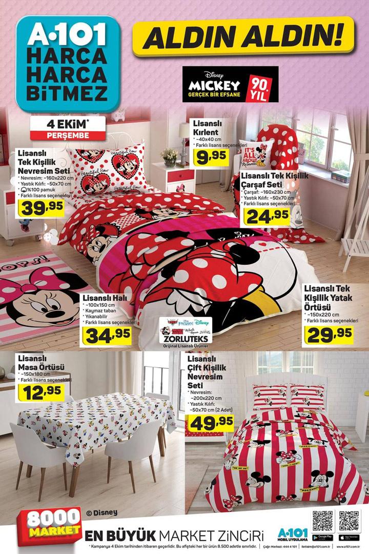 A101 Aktuel, 4 Ekim Perşembe Ev Tekstili Ürünleri