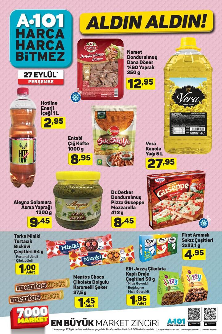 A101 Market Ürünleri 27 Eylül Perşembe Avantajları