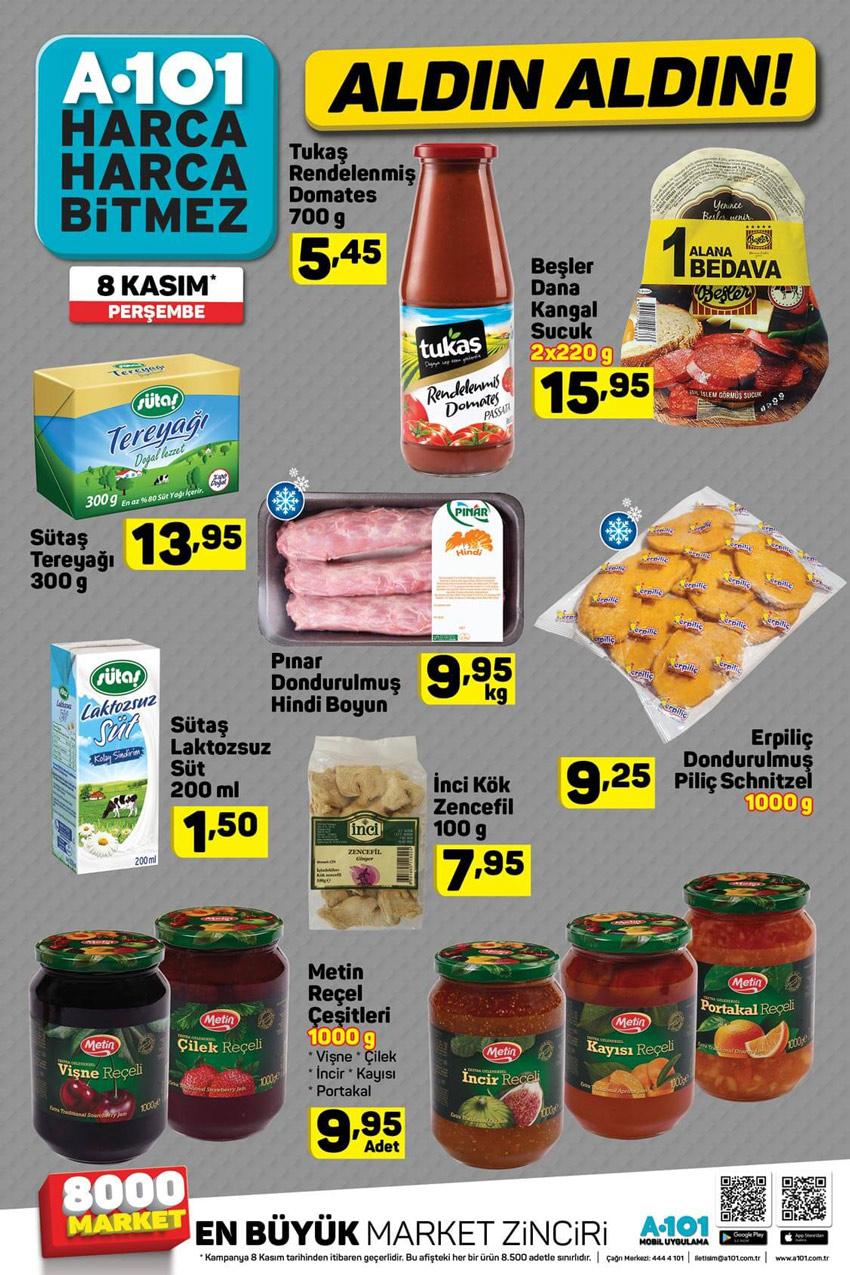 8 Kasım A101 Aktüel Gıda Spot Ürünleri