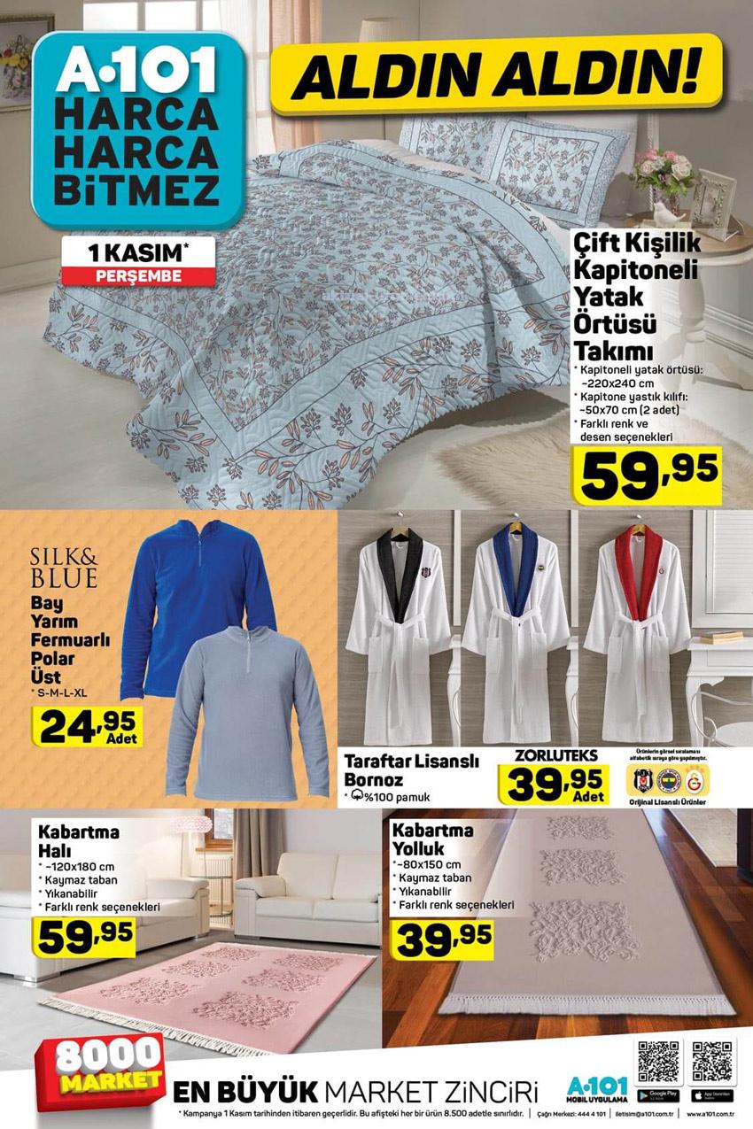 A101 1 Kasım 2018 Ev ve Tekstil Ürünleri Kataloğu