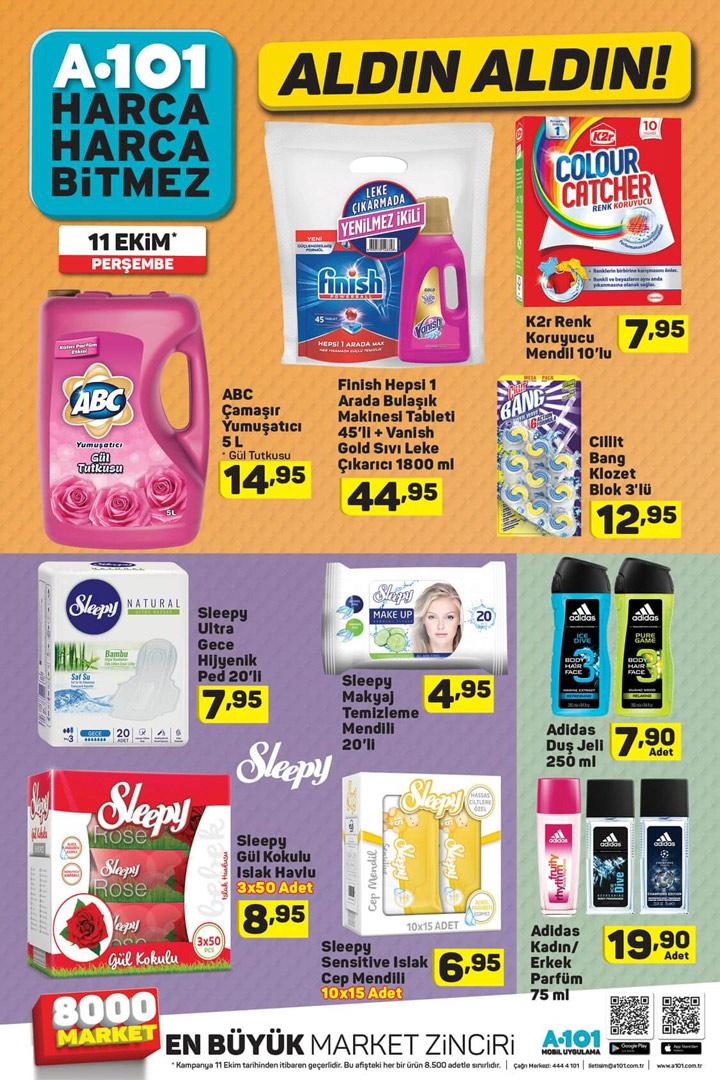A101 11 Ekim Perşembe Aktüel Ürünler Kataloğu