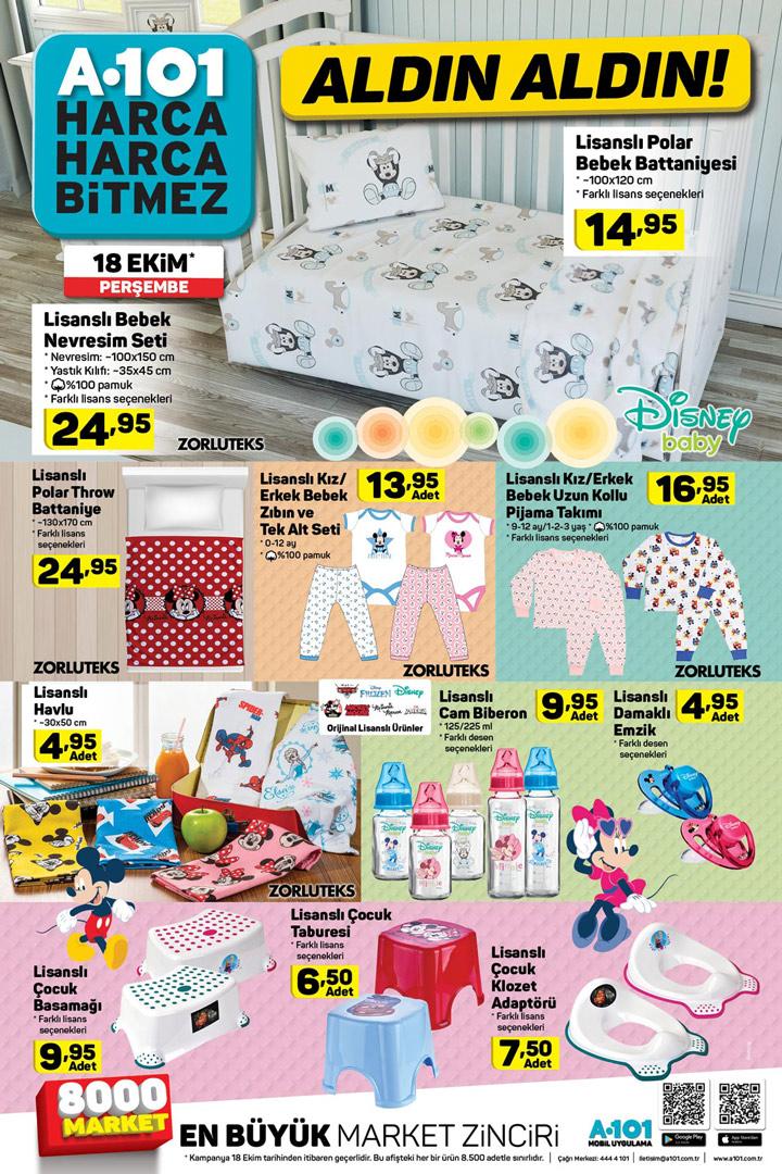 A101 18 Ekim Bebek Ürünleri Aktüel Fırsatı