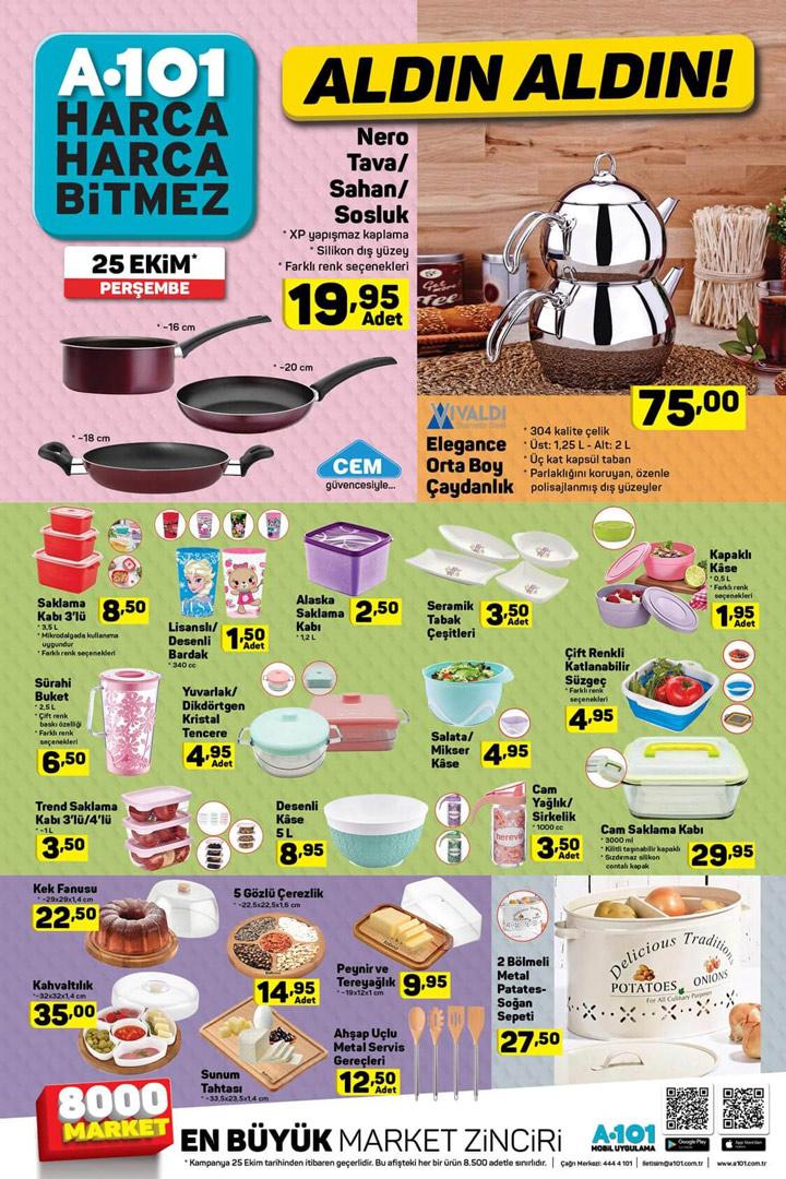 A101 25 Ekim Mutfak Ürünleri Kataloğu İncelemesi