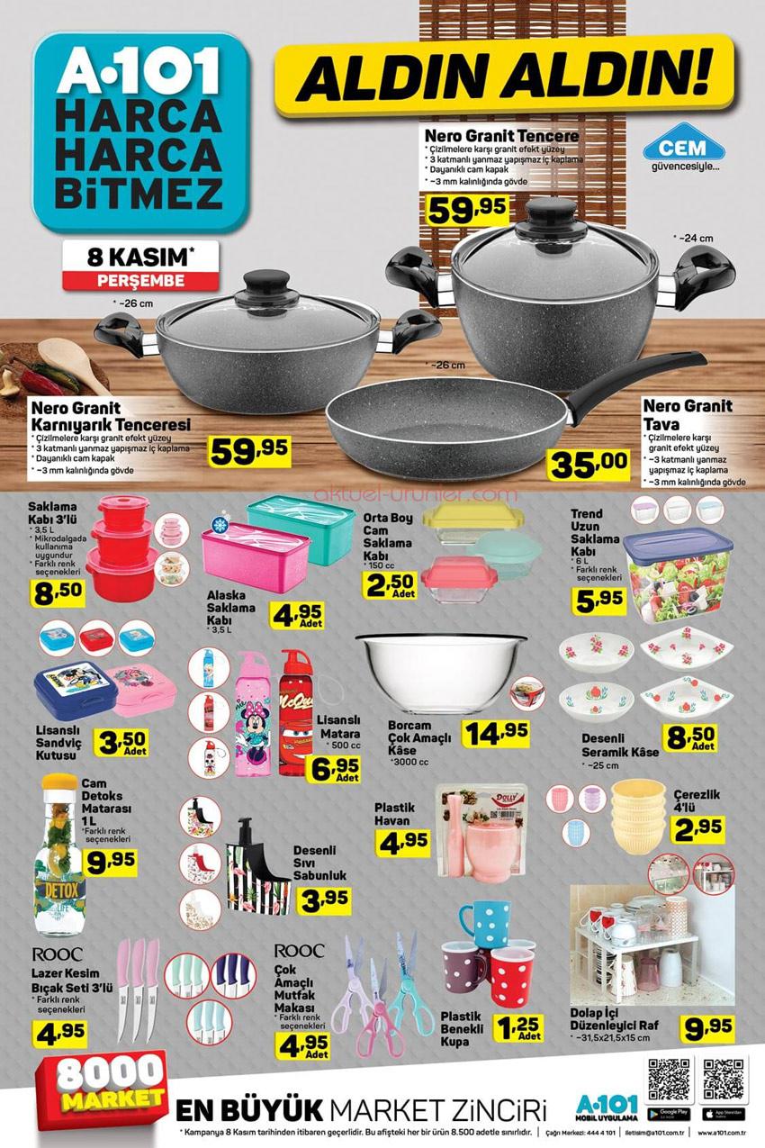 A101 8 Kasım Mutfak Ürünleri Aktüel Kataloğu