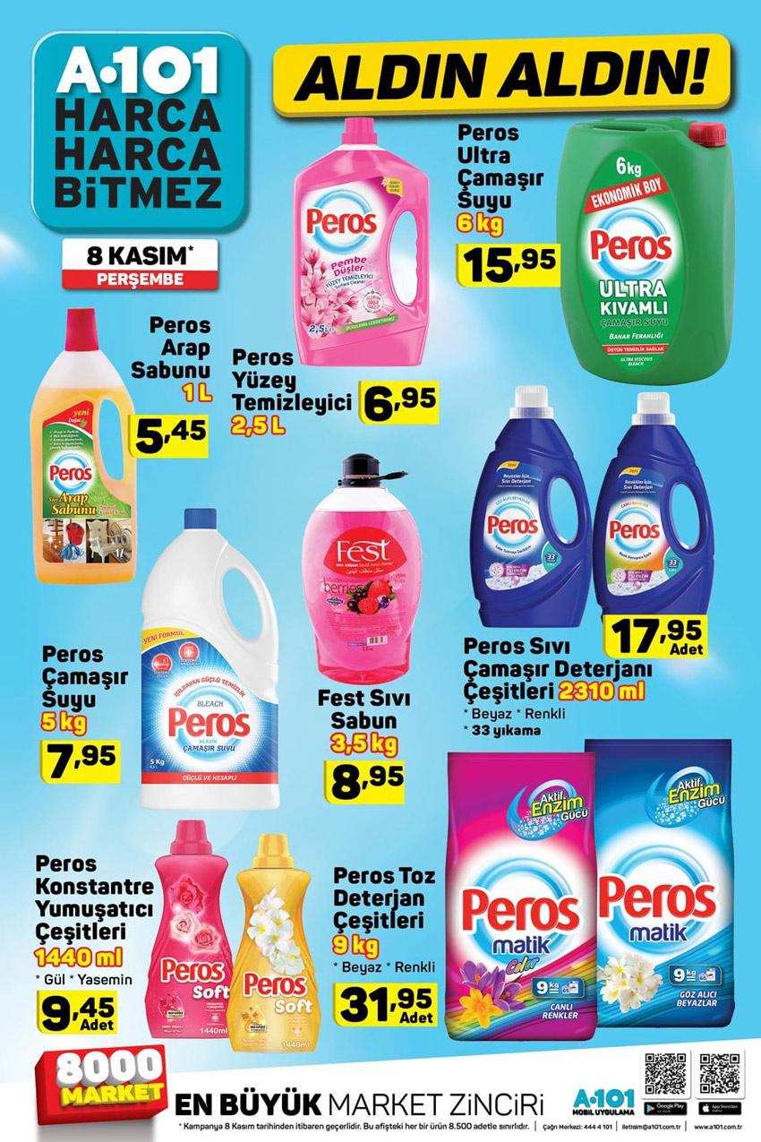 A101 8 Kasım Uygun Fiyatlı Aktüel Temizlik Ürünleri