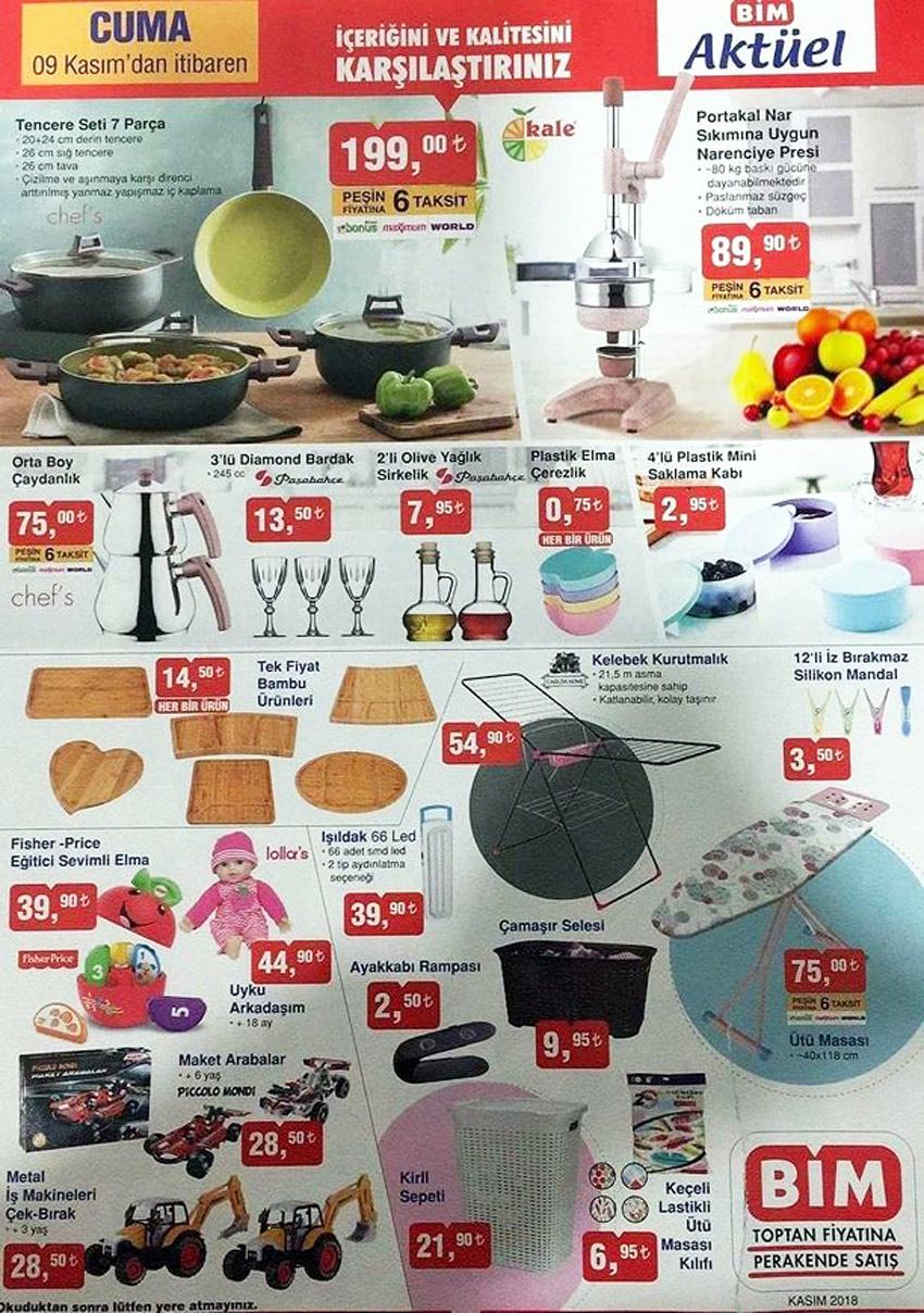 9 Kasım BİM Aktüel Mutfak Fırsatları Ürünleri
