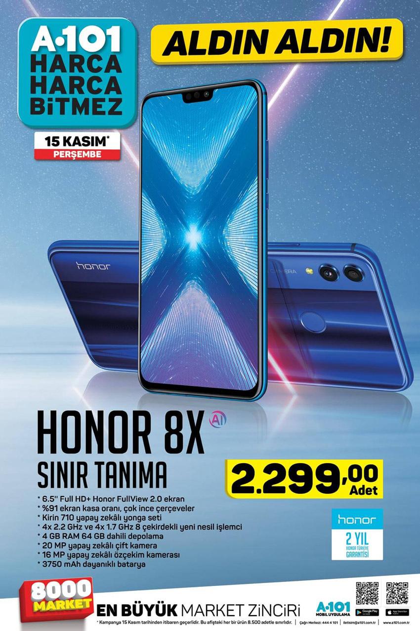 A101 15 Kasım Honor 8X Cep Telefonu Ürün İncelemesi