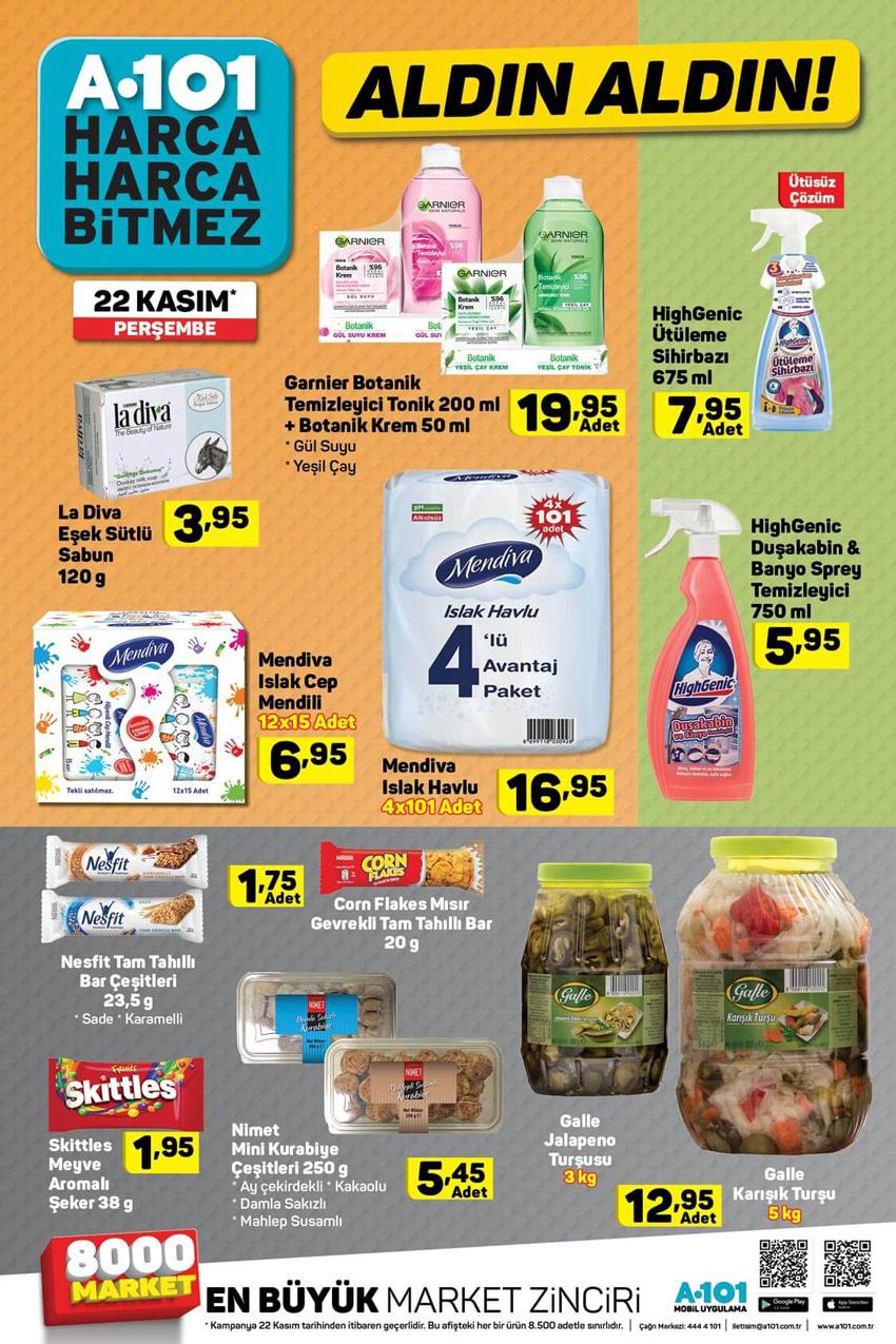 A101 22 Kasım Güncel Aktüel Ürün Kataloğu