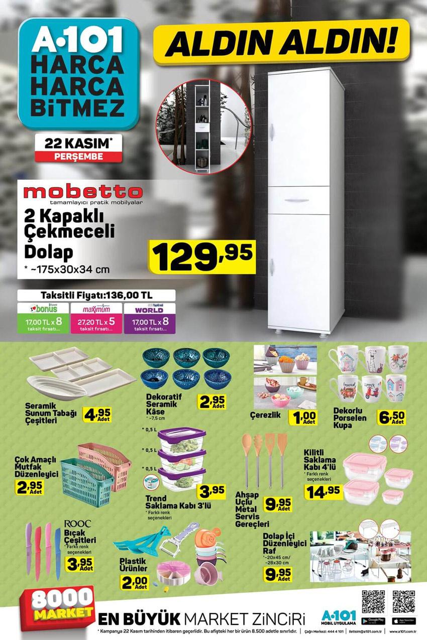 A101 22 Kasım Mutfak Aktüel Ürünleri Kataloğu
