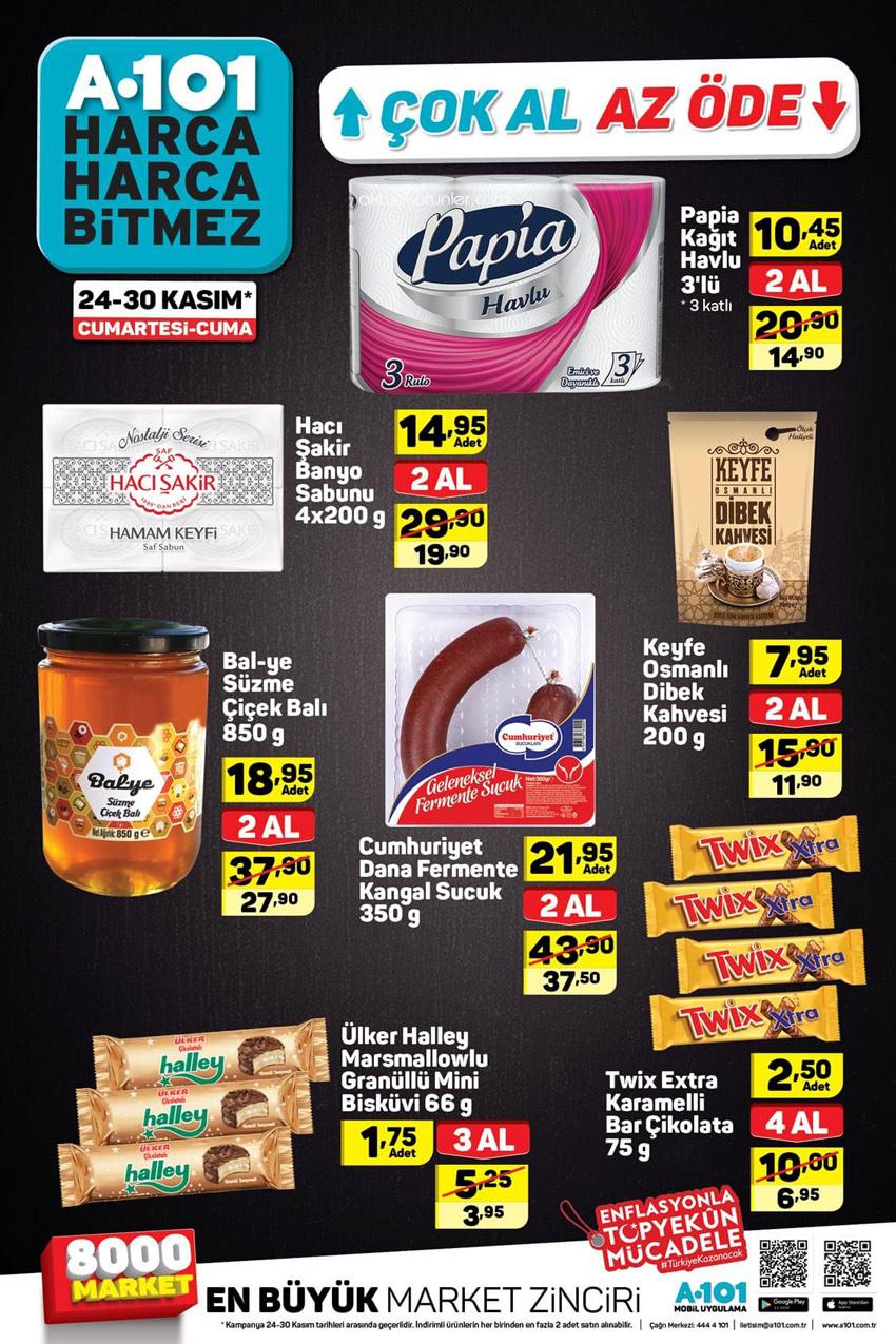 A101 24 Kasım Çok Al Az Öde Aktüel Ürünleri
