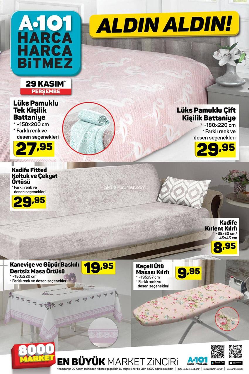 A101 29 Kasım Ev Tekstili Aktüel Ürünleri