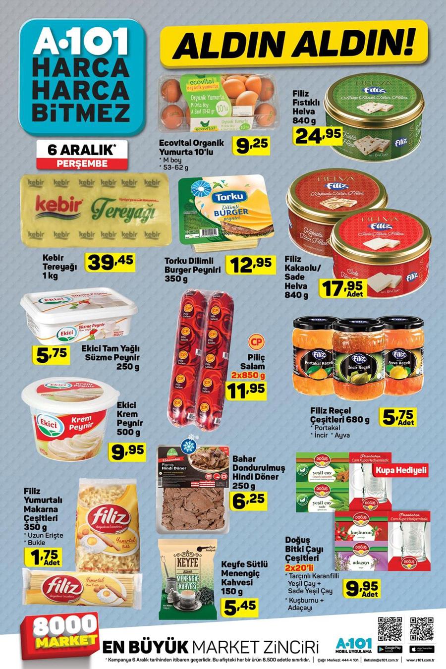 A101 6 Aralık Gıda Aktüel Ürünler Listesi