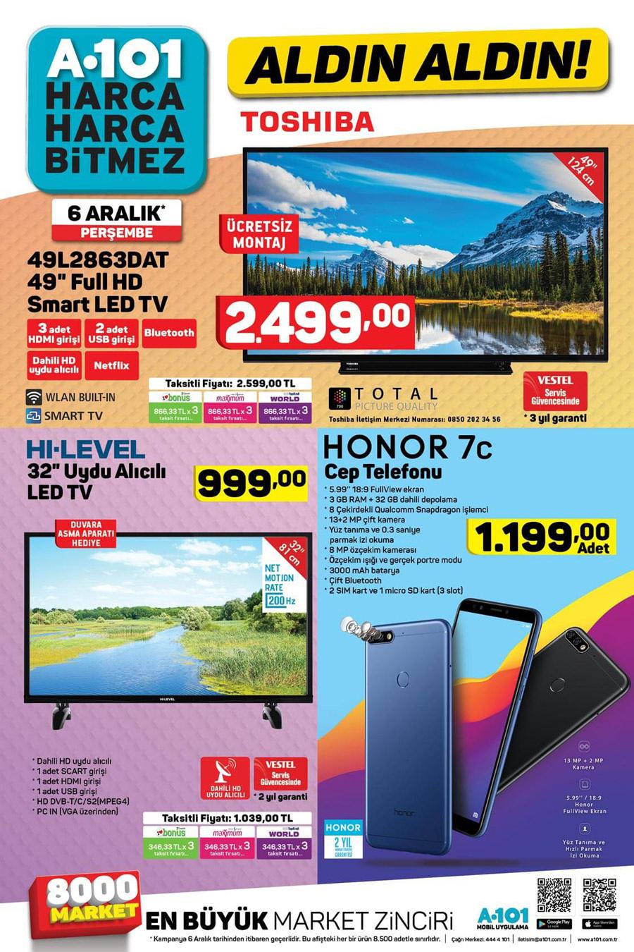 A101 6 Aralık Gelecek Yeni Aktüel Ürün Katalogları