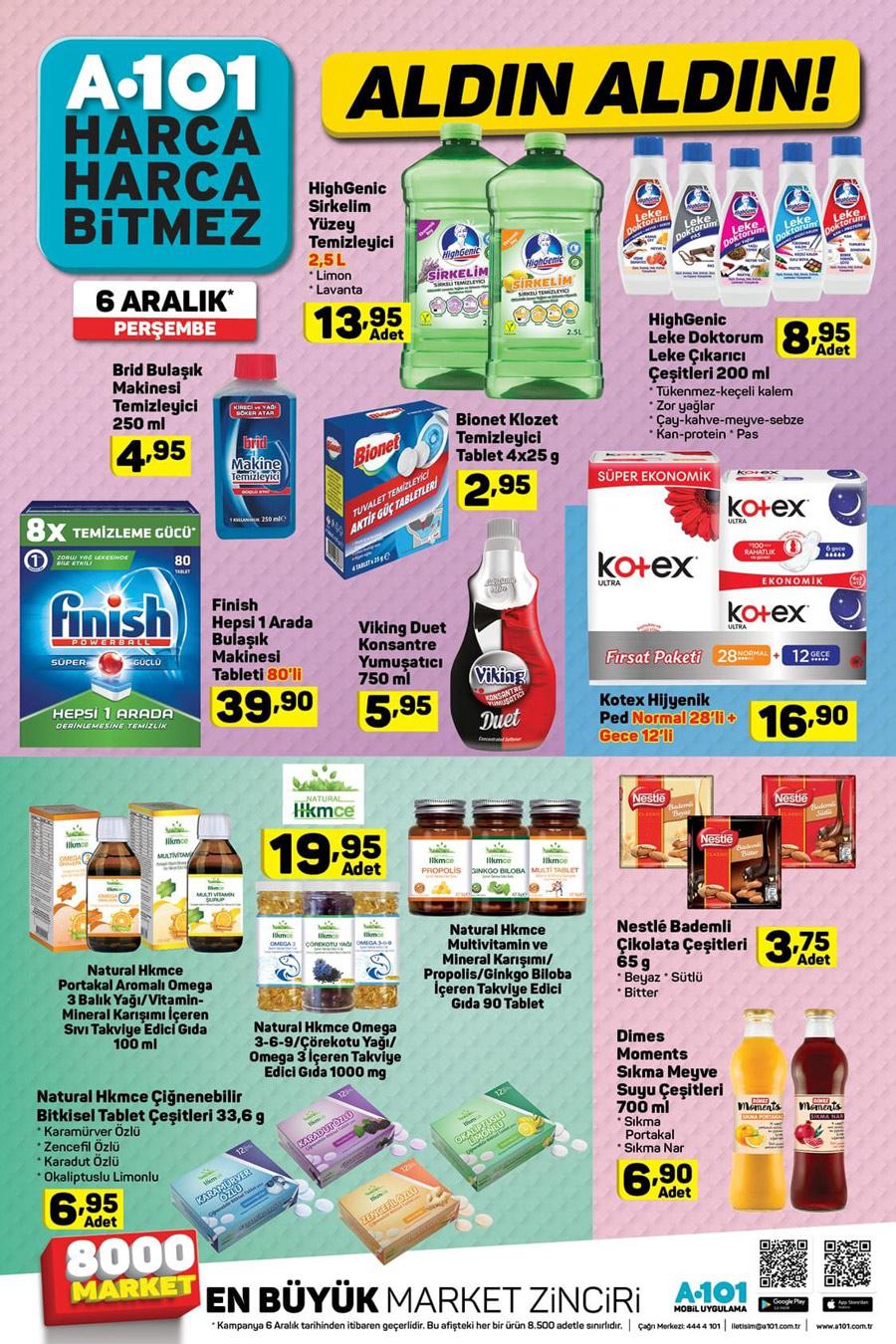 A101 6 Aralık Temizlik Aktüel Ürünleri Kataloğu