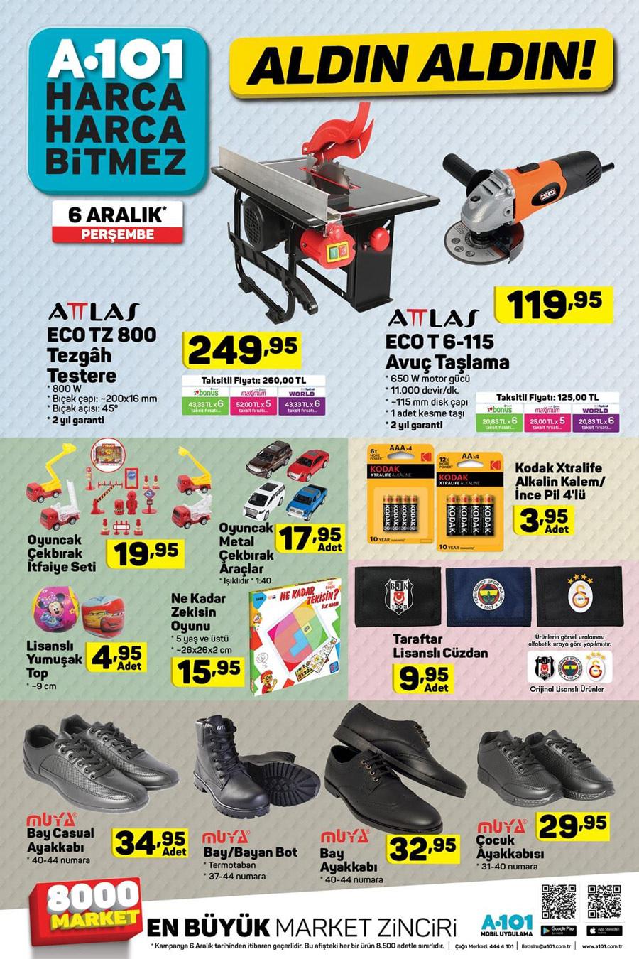 A101 6 Aralık Yeni Aktüel Ürünler Kataloğu