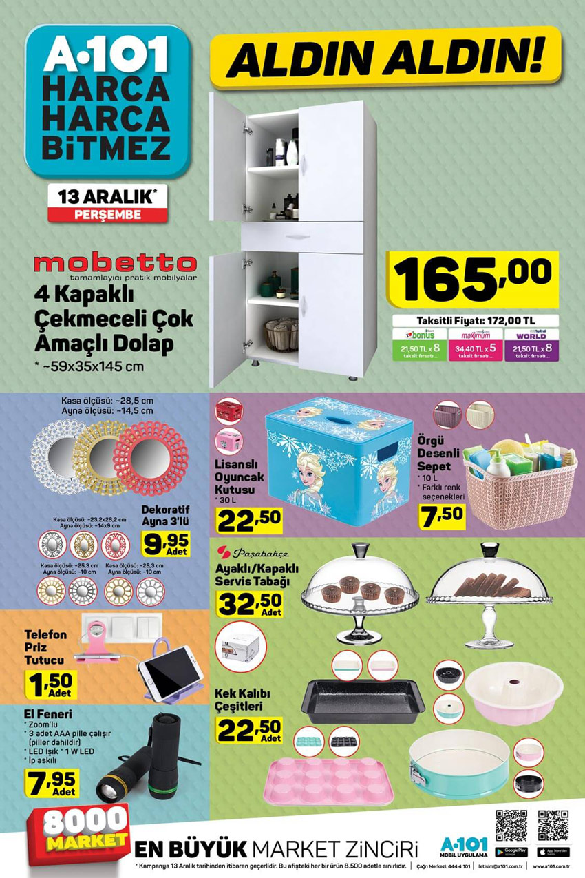13 Aralık A101 Aktüel Ürün Katalog Sayfası