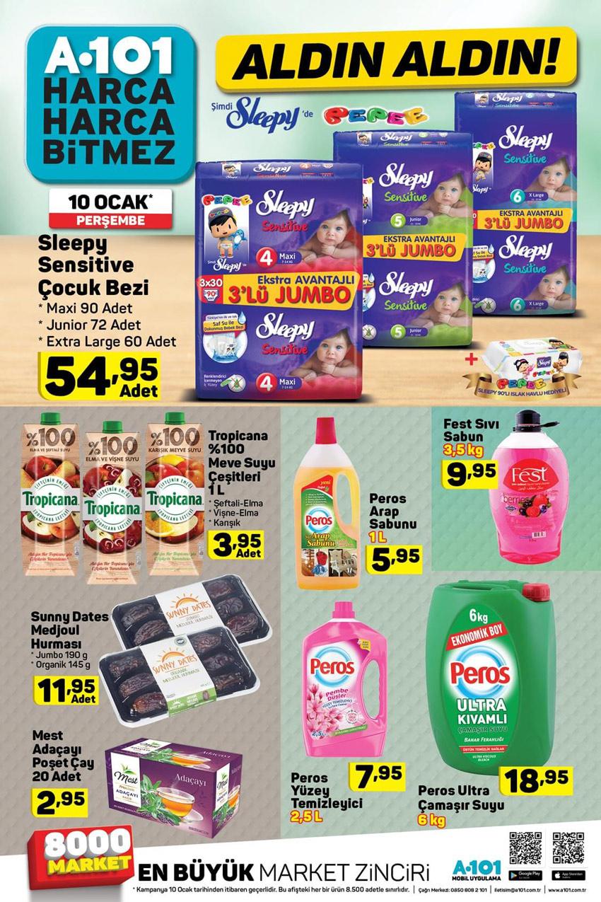 A101 10 Ocak Sevindiren Aktüel Ürün İndirimleri