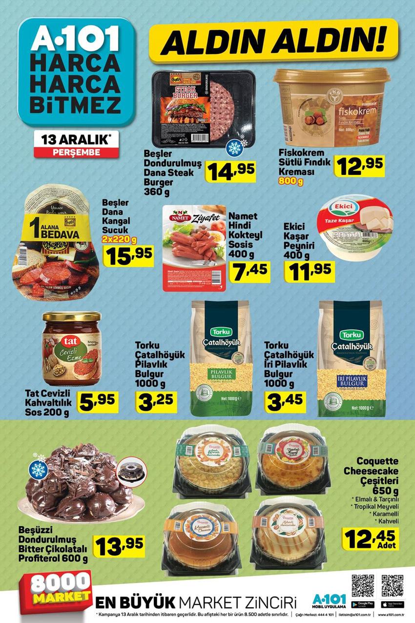 A101 13 Aralık Perşembe Gıda Fırsatları