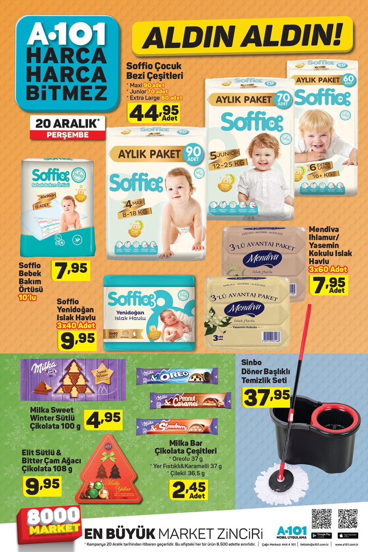 A101 20 Aralık Bebek Ürünleri Kataloğu