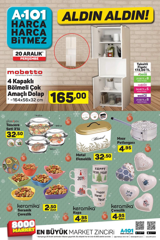 A101 20 Aralık Perşembe Ev İhtiyaçları Aktüel Ürünleri