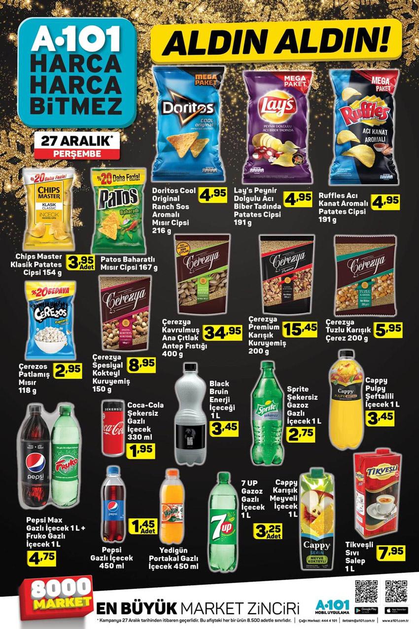 A101 27 Aralık Atıştırmalık Aktüel Ürünleri