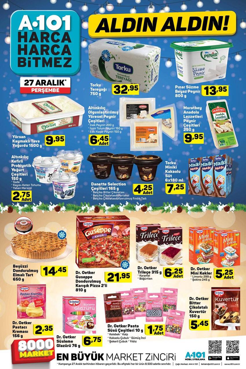 A101 27 Aralık Gıda Aktüel Ürünleri