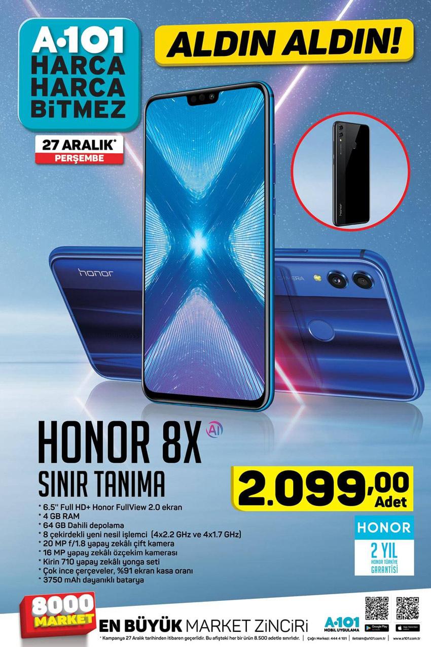 A101 27 Aralık Honor 8X Sınır Tanıma Aktüel Ürünü