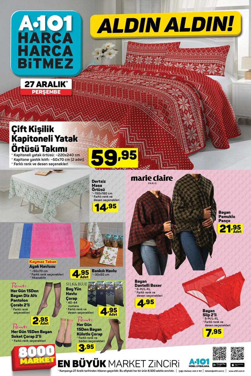 A101 27 Aralık Yılbaşı Özel Aktüel Ürünleri