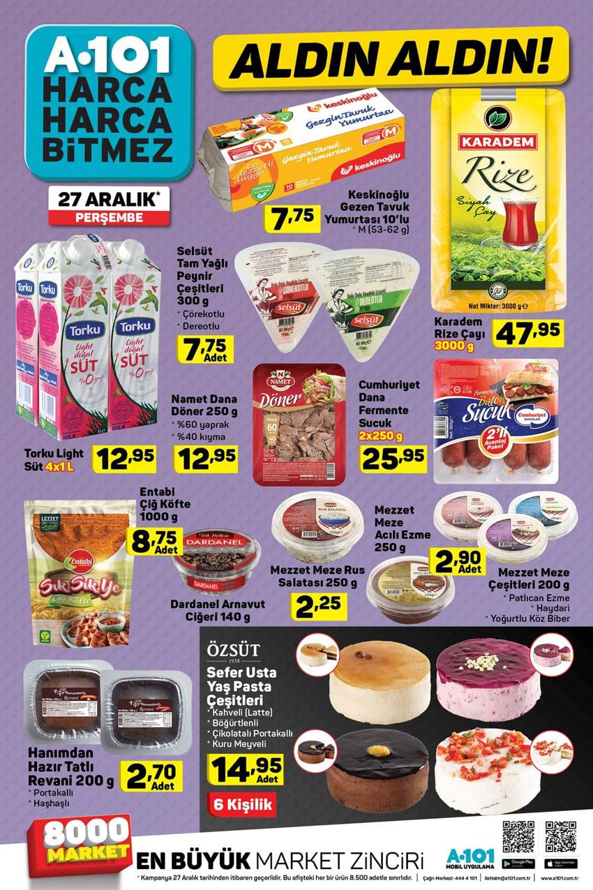 A101 27 Aralık Yiyecek Aktüel Ürünleri