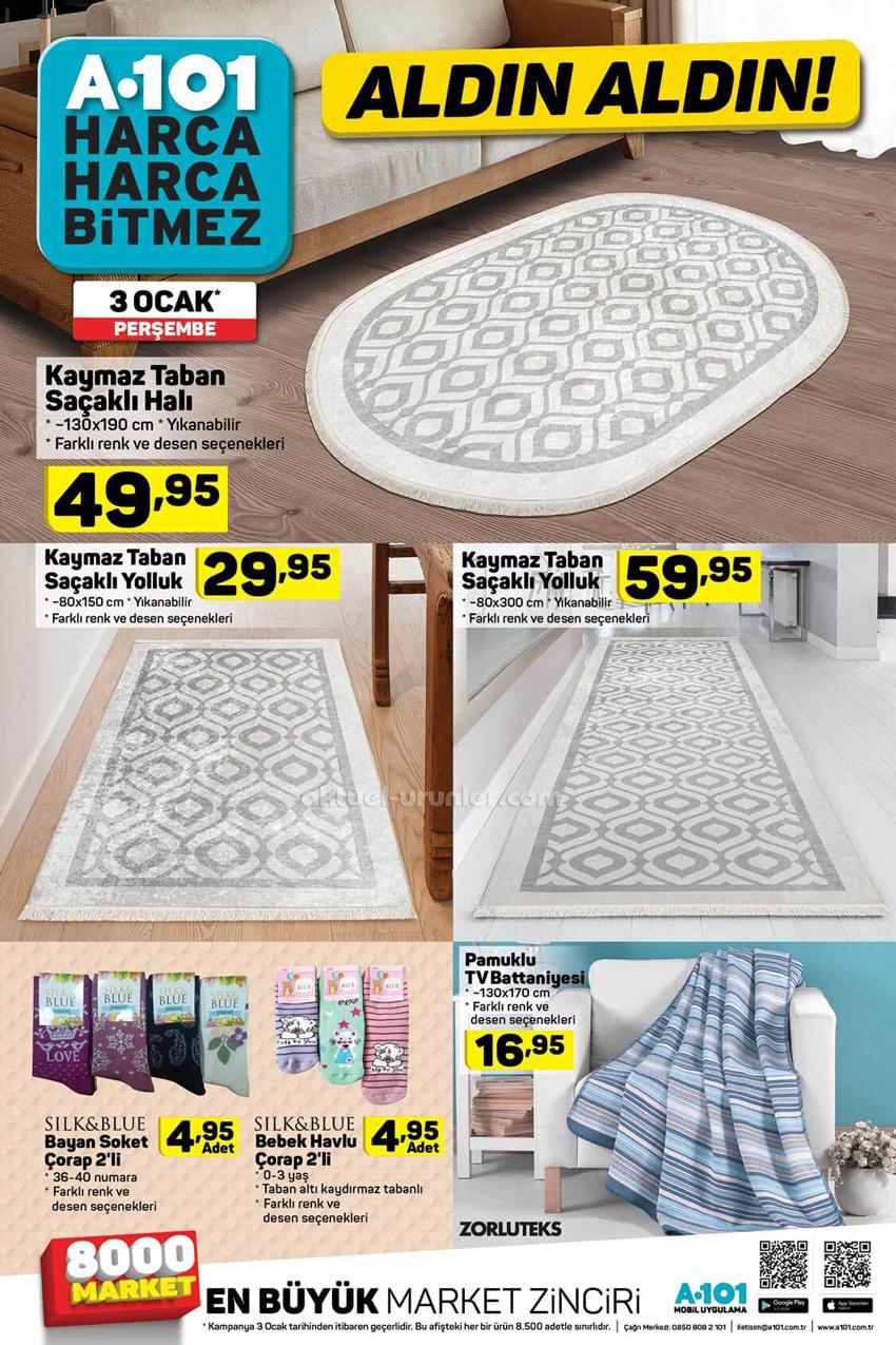A101 3 Ocak Beklenen Ev Tekstili Ürünleri Kataloğu