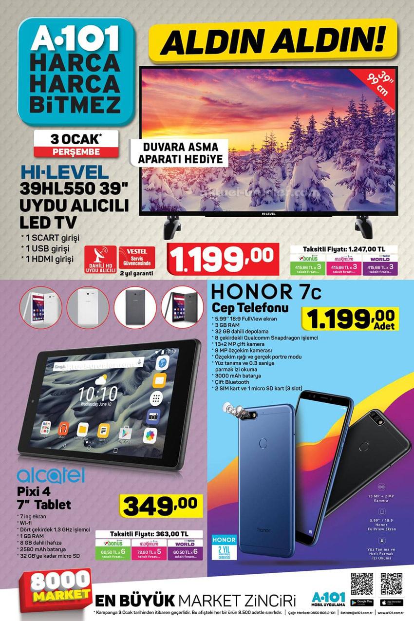 A101 3 Ocak Elektronik Aktüel Cihazlar Kataloğu