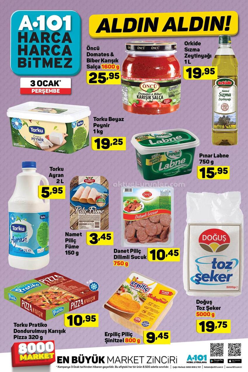 A101 3 Ocak Perşembe Gıda Aktüel Ürünleri