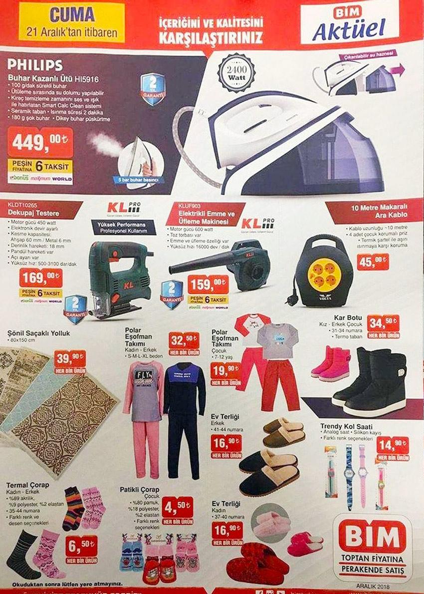 BİM 21 Aralık Yeni Aktüel Ürün Katalogları