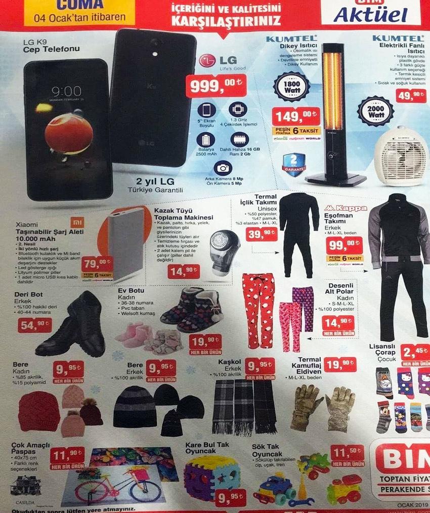 Bim Aktüel Katalog 4 Ocak 2019 Aktüel Ürünleri
