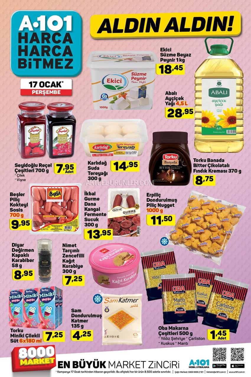 A101 17 Ocak Gıda Aktüel Ürünler Kataloğu