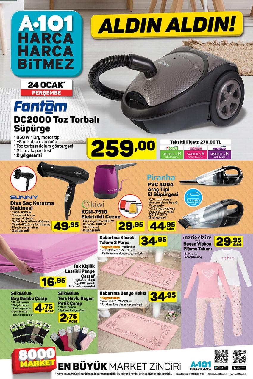 A101 24 Ocak Aktüel Ev Ürünleri Kataloğu