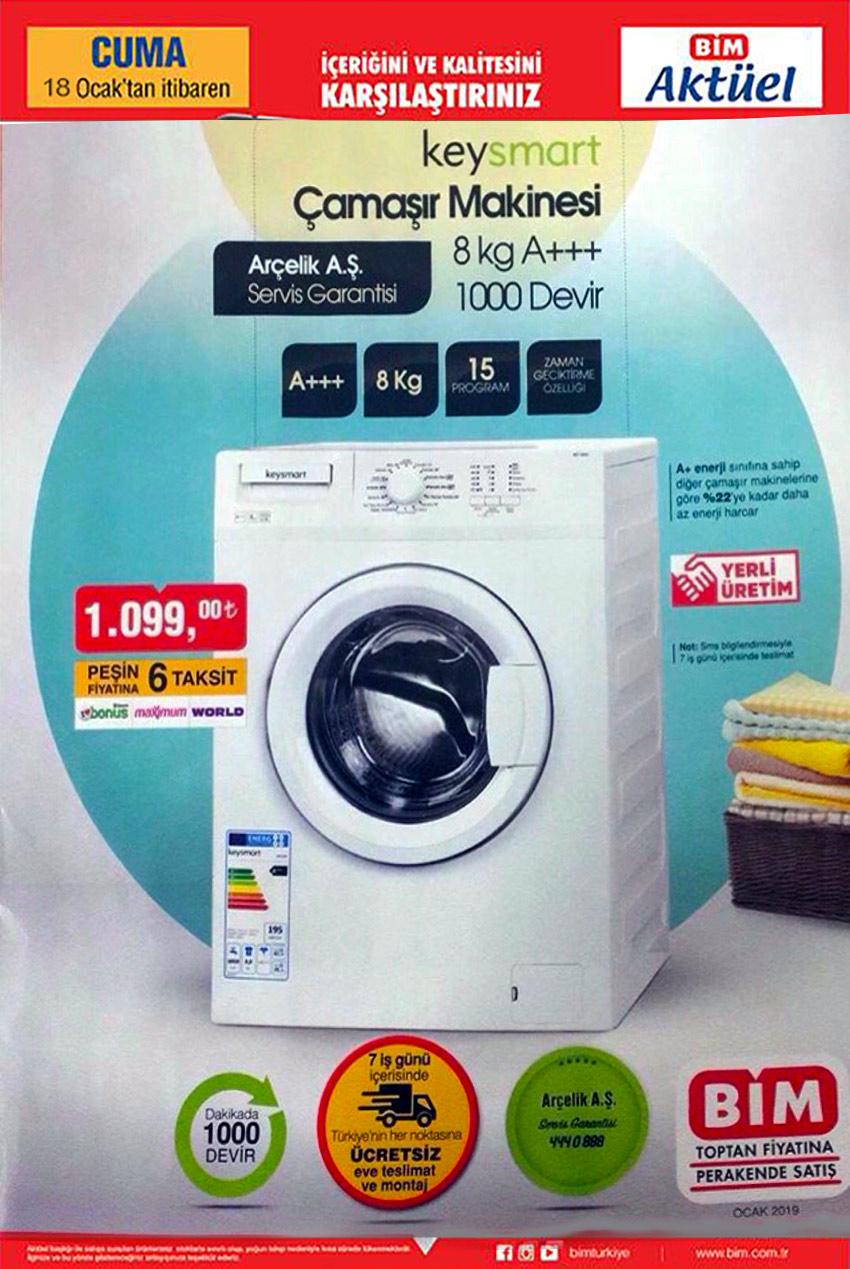 BİM Aktüel 18 Ocak Özel Çamaşır Makinesi Fırsatı